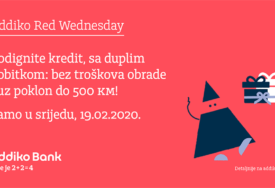 ADDIKO RED WEDNESDAY Podignite kredit sa duplim dobitkom, bez troškova obrade i uz poklon do 500 KM