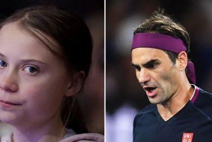 ELEGANTNO, KAO NA TERENU Greta Tunberg napala Federera, Švajcarac joj OČITAO LEKCIJU