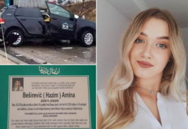 TUGA U CAZINU Danas sahrana Amine Beširević (18), koja je stradala tokom obuke za vožnju
