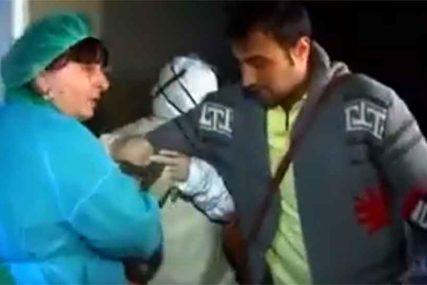 PUSTILI GA, ILI PAK NISU Zahvaljivao se doktorima, pa ga odvukli u bolnicu pred kamerama (VIDEO)
