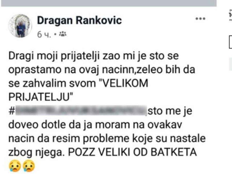 Foto: Dragan Ranković/Facebook/Screenshot