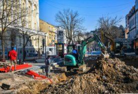 Vrijeme IDE NA RUKU građevinarima: Uskoro pripreme za betoniranje podloge pješačke zone
