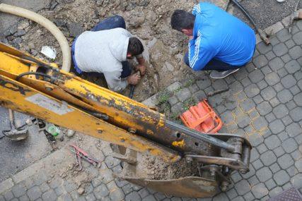 RADOVI NA CJEVOVODU Dio centra grada bez vode