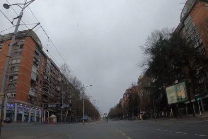 BEOGRAD, GRAD DUHOVA Vožnja kroz prestonicu Srbije u toku policijskog časa (VIDEO)