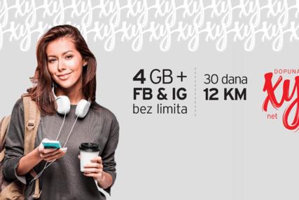 Odaberite XYnet m:tel DOPUNA TARIFU: Uživajte u VRHUNSKIM internet opcijama