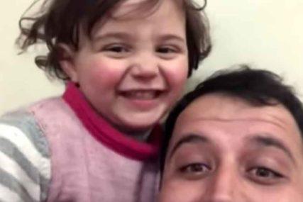 Djevojčica koja se SMIJE BOMBAMA sada na SIGURNOM mjestu sa svojim roditeljima