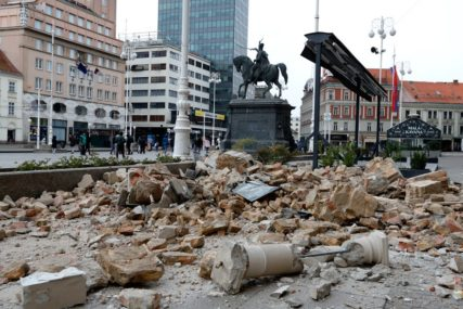 POVRIJEĐENO 17 OSOBA, DJEVOJČICA (15) KRITIČNO Posljedice snažnog potresa u Zagrebu