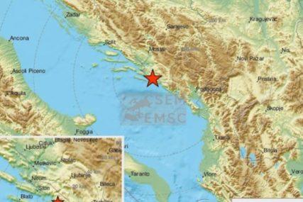 ZEMLJOTRES U DUBROVNIKU Epicentar u Jadranskom moru