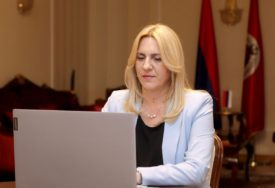 PREDSJEDNICA RS UPUTILA ČESTITKE Cvijanović: Važno jačati prijateljske veze Srpske i Crne Gore