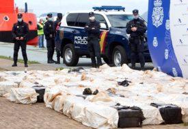 RAZBIJEN LANAC ŠVERCERA Španska policija zaplijenila četiri tone kokaina