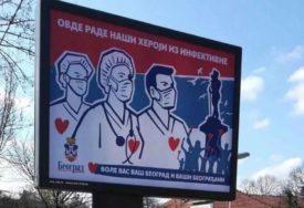 """""""OVDJE RADE NAŠI HEROJI"""" Emotivne poruke podrške ljekarima osvanule na bilbordima (FOTO)"""