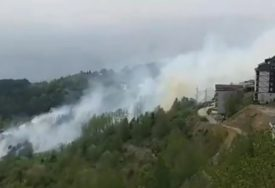 VATRENA STIHIJA NA KOPAONIKU Vjetar oborio strujni vod sa delekovoda i izazvao strašan požar (VIDEO)