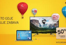m:tel IPTV paketi - Mjesto gdje stanuje zabava: Ostvarite 50% popusta na dvije mjesečne pretplate