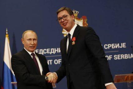 """Putin o pitanju Kosova sa Vučićem """"Potrebno izbalansirano rješenje koje mora da odobri Savjet bezbjednosti UN"""""""