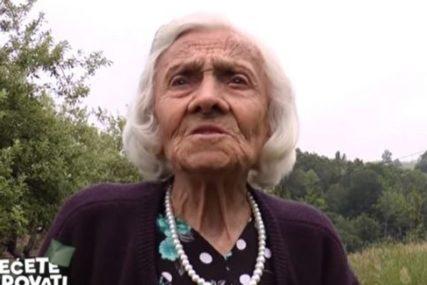 SUPERBAKA LJUBICA I TRČI KAO ZMAJ Ima 95 godina, cijepa drva, kosi i SVIRA USNU HARMONIKU (VIDEO)