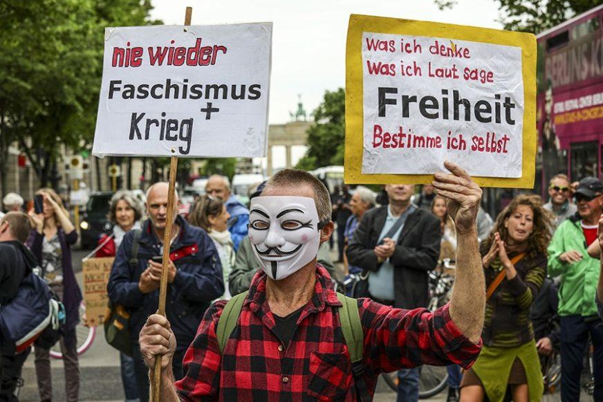 DEMONSTRACIJE U BERLINU Treći vikend zaredom na ulicama, UHAPŠENO 60 LJUDI