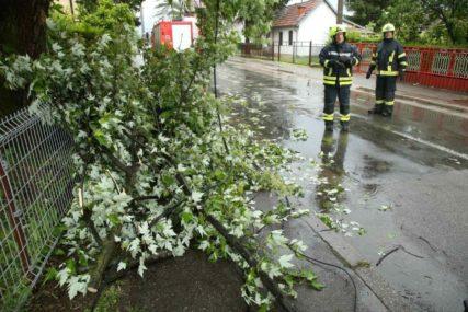 NEVRIJEME NAPRAVILO PROBLEM Uklonjeno drvo sa kolovoza, prohodan put Derventa - Doboj