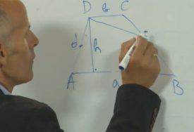 Nastava na daljinu uz SRPSKAINFO: Učenici računali površinu trapeza (VIDEO)