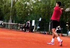 ODMAH NA TRENING Novak pokazao zašto je šampion