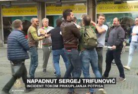 """""""BOJKOTAŠI CRTAJU METE NA NAŠIM ČELIMA"""" Snimak napada na Sergeja Trifunovića"""