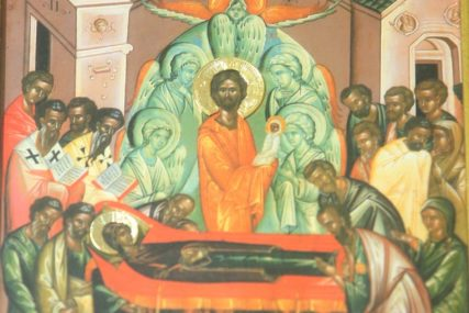 SUTRA VELIKA GOSPOJINA Praznik je uspomena na ovozemaljsku smrt Presvete Bogorodice