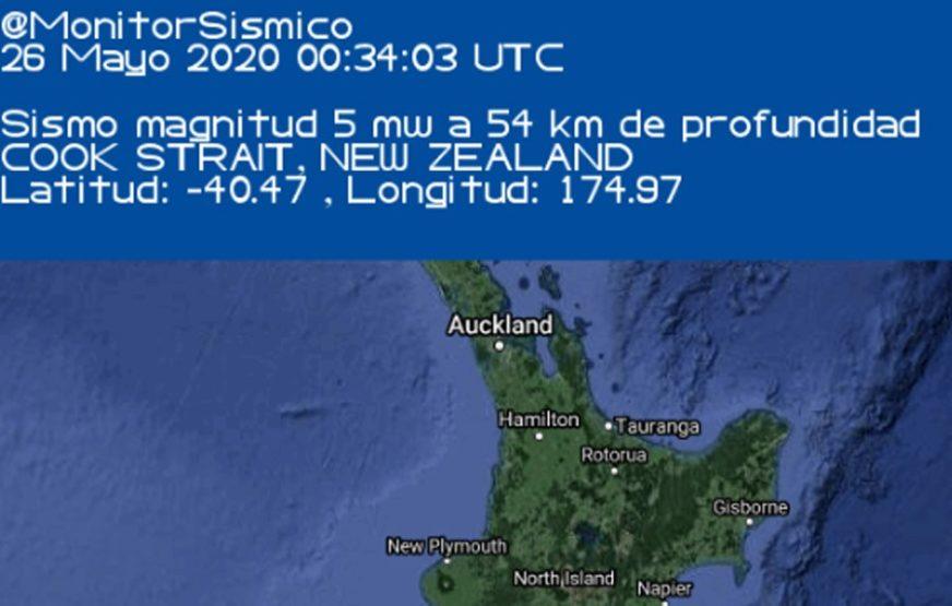 NOVI ZELAND SE OPET TRESAO Zabilježen zemljotres jačine 5,2 stepena
