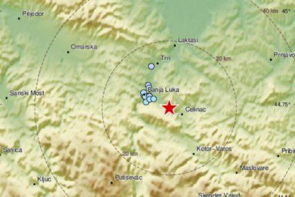 SVE SE TRESLO Epicentar zemljotresa bio osam kilometara jugoistočno od Banjaluke (FOTO)