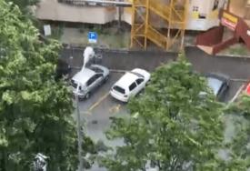 JAKO NEVRIJEME U ZAGREBU U glavnom gradu Hrvatske padao grad veličine lješnjaka (VIDEO)