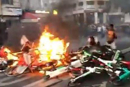 FRANCUSKA NA NOGAMA Policija ispalila suzavac na demonstrante, ULICE U PLAMENU (VIDEO)