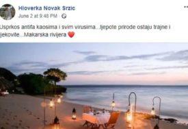 KAKAV GAF Direktorka Turističke zajednice Makarsku reklamira slikom plaže iz Mozambika