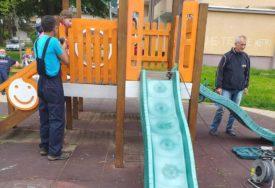 PONOVO NA METI NESAVJESNIH Popravljeno nekoliko dječijih igrališta po gradu