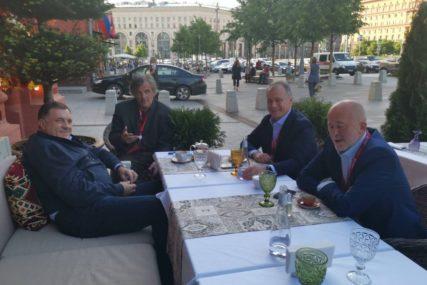 OPUŠTANJE U MOSKVI Dodik u društvu sa Kusturicom i saradnicima