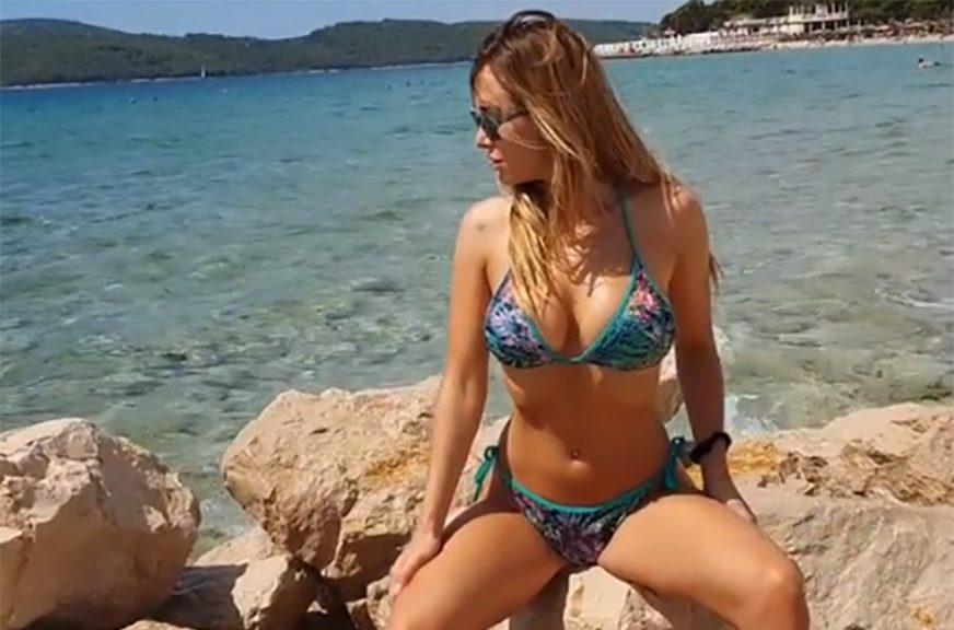 POZIRANJE U KOSTIMU Vrela Lidija Bačić jedva čeka dolazak ljeta (VIDEO)