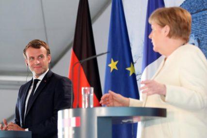 NORMALIZACIJA ODNOSA Makron i Merkel ohrabruju Vučića i Hotija za postizanje napretka u pregovorima