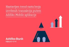 BENEFITI ZA SVE KORISNIKE Broj transakcija na Addiko Mobile aplikaciji VEĆI ZA 40 ODSTO