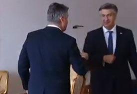 PLENKOVIĆ OPREZAN Laktom pozdravio Milanovića, predsjednik ostao ZBUNJEN (VIDEO)