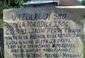 """""""DANAS NEMAMO HLJEB ZA RUČAK"""" Cijela porodica u izolaciji zbog korone, nemaju nikoga da POMOGNE"""