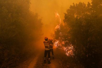 VATRENA STIHIJA KOD TREBINJA Vatrogasci gase požar iznad naselja Banjevci