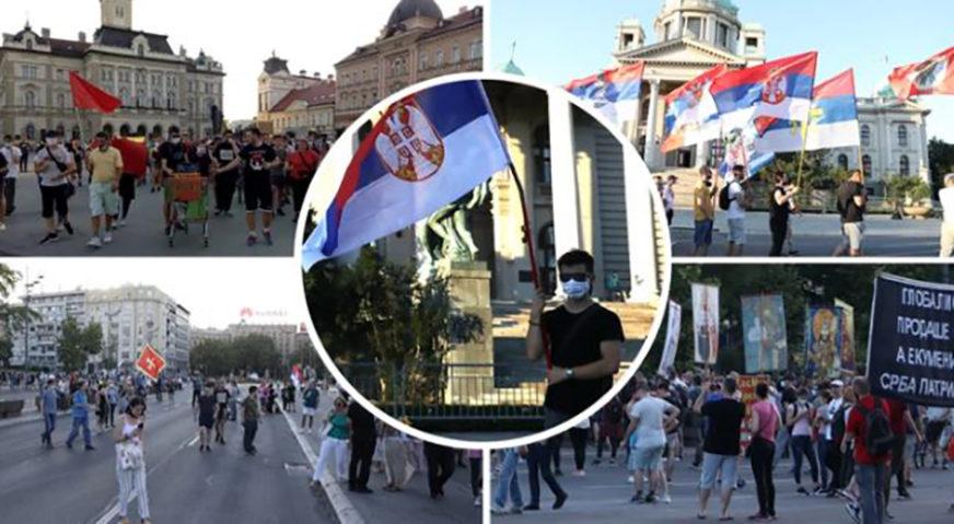 PROTESTI BEZ NASILJA Sve manje običnih građana, a više raspopa i ekstremnih desničara (FOTO)