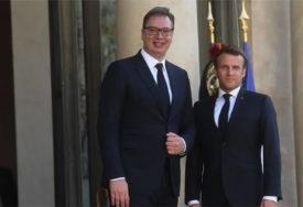 RAZGOVOR U PARIZU Vučić se sastao sa Makronom, slijedi radna večera (FOTO)