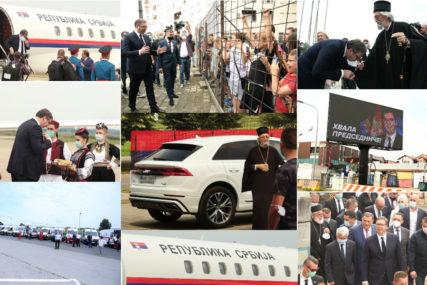 OD BOLNICE DO HRAMA Vučić je juče bio u Banjaluci, ove fotografije su OBILJEŽILE NJEGOV DOLAZAK