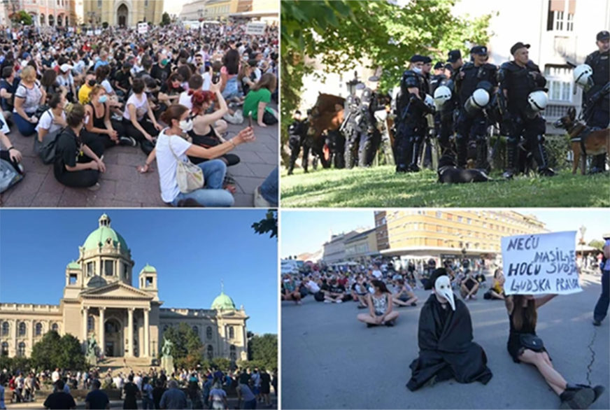 PROTEST PROŠAO MIRNO Okupljeni uspjeli da otjeraju Noga (VIDEO)