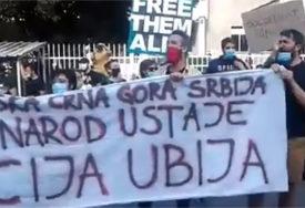 TRAŽE OSLOBAĐANJE AKTIVISTA Građani protestuju ispred Centralnog zatvora (FOTO)