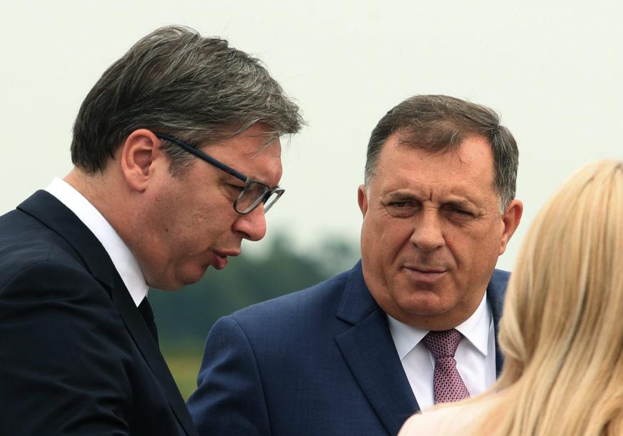 U PLANU NIZ AKTIVNOSTI Dodik će dočekati Vučića i delegaciju Srbije na aerodromu Mahovljani