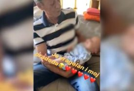 """JA VRAGOLAN I MOJ PRADEDA"" Cecin otac u naručju drži malog Željka, SVE PRŠTI od emocija (VIDEO)"
