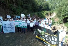 PROTEST U FOČI Građani protiv izgradnje malih hidroelektrana na Bjelavi