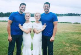 Sestre bliznakinje se udale za braću blizance: Imali su zajedničko vjenčanje, a onda su i u isto vrijeme i zatrudnile