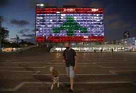 """""""HUMANOST IZNAD BILO KOJEG SUKOBA"""" Libanska zastava zasijala u Tel Avivu"""