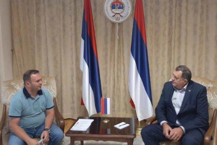 SIGURNI U UBJEDLJIVU POBJEDU Dodik se sastao sa kandidatom za gradonačelnika Istočnog Sarajeva
