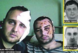 TUKLI IH, PUCALI NA NJIH PA IM SJEKLI LICA Monstruozan napad na policajca i zatvorskog čuvara